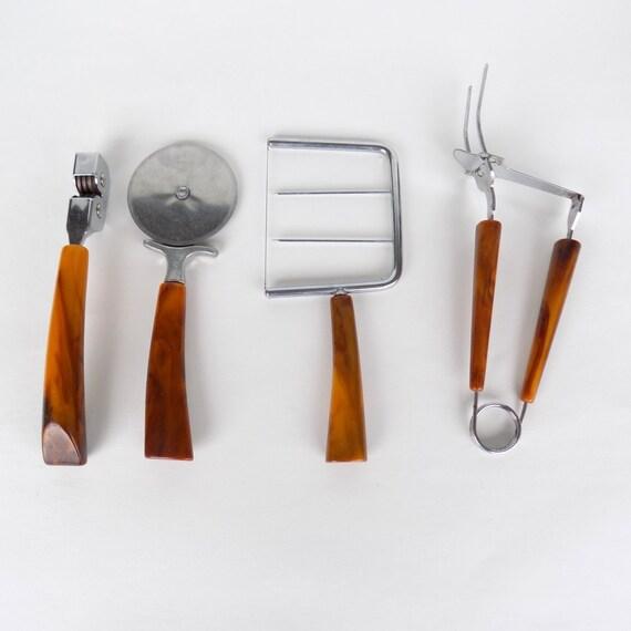 Bakelite Handled Kitchen Utensils Brazilian Horn Bakelite