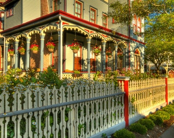 Victorian House Photograph, The Abbey, Cape May, New Jersey Shore, Color Photography, Art Print, Vintage, HDR, Colorful Home Decor