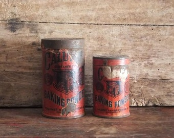 Vintage Calumet Baking Powder Tins