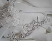Quality Bridal Hanger With Rose Details, Sturdy Non Tarnish Script