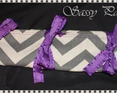 Gray & White Chevron Hair Extension Case / Holder / Storage - Design Your Own