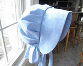 1800's Inspired SunBonnet---Re-Enactor Costume Pioneer - Blue Chambray Cotton