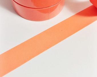 Bright Dark Orange Neon Solid Neon Orange Washi Tape 11 yards 10 meters 15mm