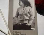 Vintage Straker Design Pattern, Knitting Sweater Pattern, Penny Straker Original Pattern, Cardigan Sweater, Cable Pattern, Galway 788