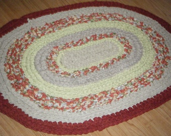 Handmade Oval Old Fashion Rag Rug\\Rustic Charm Rug - for Etsy