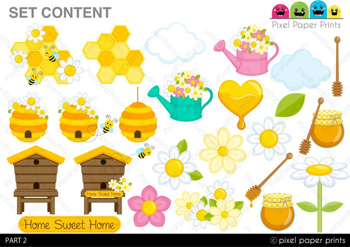 Bee home clipart pictures.