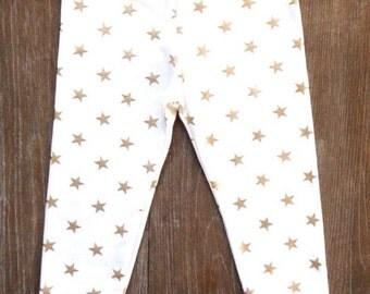 Gold Star Glitter Leggings, Gold Sparkle Leggings, Gold Glitter Pants, Gold Baby Leggings, Star Leggings, Gold Baby Pants,