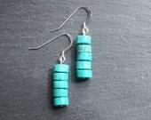 Turquenite Disc Stack Earrings