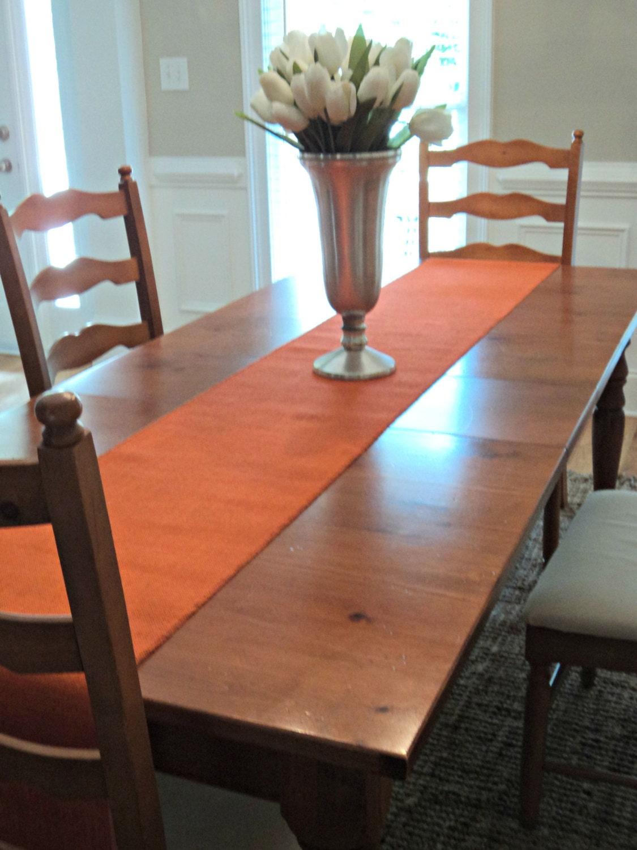 Orange Table Runner Fall Table Runner Orange Burlap Runner