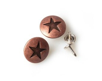 10 sets  20mm buttons  No Sew  jeans tack Metal buttons Copperish color button fastener with manual - Star