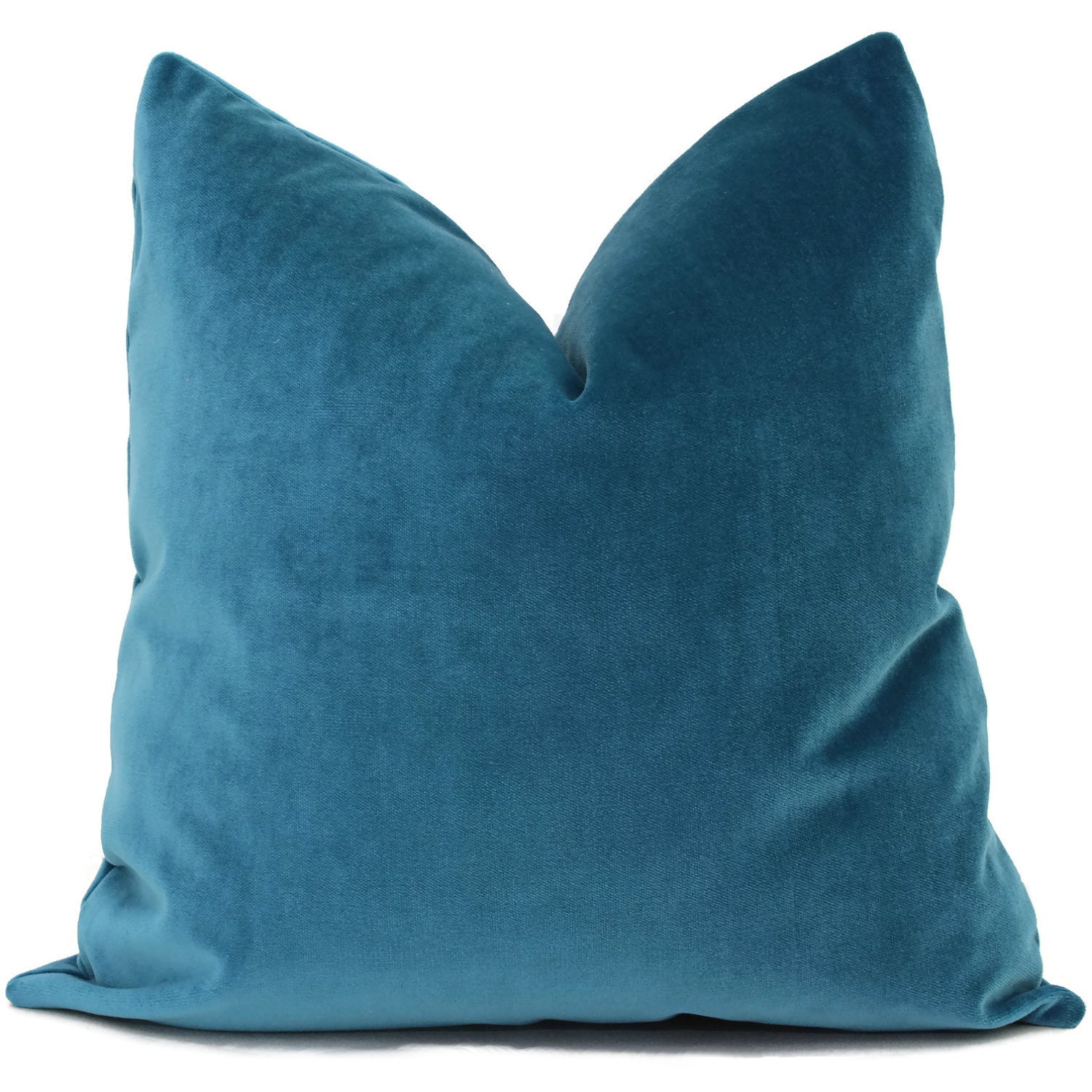 Peacock Blue Throw Pillow : Velvet Pillow Peacock Blue Decorative Pillow Cover by PopOColor
