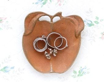 Ring Holder - Patina Apple - Antique Brass Trinket Dish