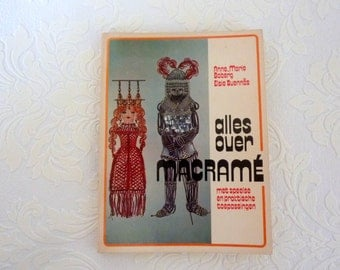 Macramé crafting book vintage 1973