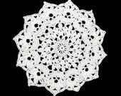 Lovely Small Crocheted Doily, 6-1/2 Inches