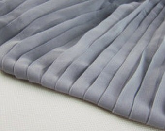 multi solid color chiffon cloth.  Pleated Chiffon fabric.chiffon for skirts DIy .pleated chiffon by yard