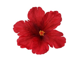 DEBRA Red Tiki Hibiscus Hair Flower