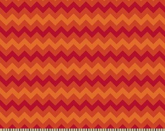 06320 -  Springs Creative Products Quilting Basics Tonal Chevron in Flame - 1 yard