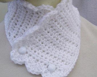 Crochet Scarf,  Buttoned Cowl, Crochet Neckwarmer, Gift for Her 20102