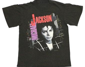 Michael Jackson Bad Tour Shirt 1988 TTC Touring Corp Tshirt 1980s Rare
