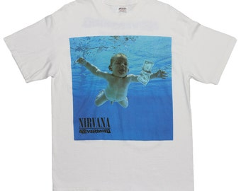 Nirvana Nevermind Shirt 1992 Vintage Tshirt Come As You Are 1990s Rock Tee 90s L