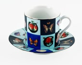 Vintage Gucci Porcellana Espresso Cup and Matching Saucer
