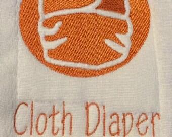 """Embroidery File """"Cloth Diaper"""" cute stitch out of a cloth diaper"""