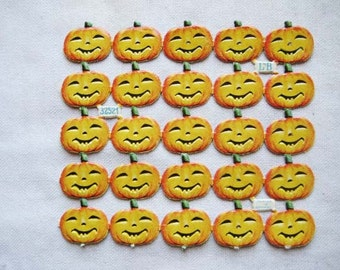 SALE 2 sheets for the price of 1 !! Vintage/Antique German Halloween Pumpkins Diecut Victorian Scrap