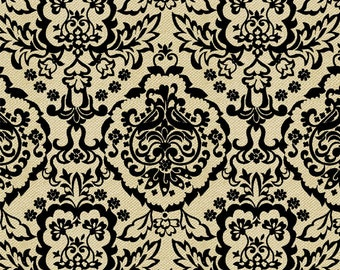 Calavera - Damask Cream from David Textiles