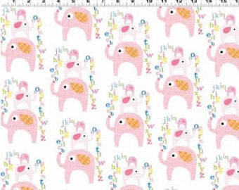 Le Elephant - Pink Elephants by Ellen Crimi-Trent from Clothworks
