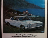 Vintage Magazine Original Promo Ad 1960's Ford Galaxie 500 XL  - Great for Framing