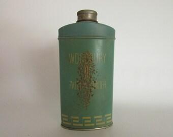 Vintage Woodbury Talcum Powder, Vintage Tin, Vintage Collectible, Vintage Memories, Vintage Borated Talc, Vintage Advertising,