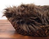 CLEARANCE Fur BROWN, Faux Fur, Newborn Photo Prop, Faux Fur Fabric, Newborn Photography, Fur Photo Backdrop, Ready to Ship, Craft Fur Fabric
