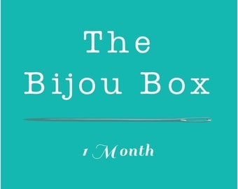 Bijou Box - 1 Month Handmade Accessories Subscription Box - Sample Product Box - Surprise Grab Bag