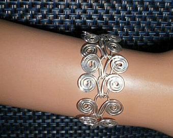 Silver Wire Bangle Bracelet