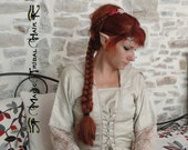 BRAID CUSTOM COLOR L size braided hair piece Wavy Renaissance Medieval hair fall 20''/ 50 cm long reenactment hair extension Fairy Elf plait