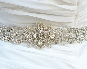 ZOE rhinestone wedding bridal sash , belt