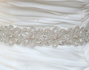SALE AMY SWARVOSKI crystal sash , headpiece