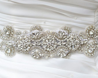 Wedding Belt, Bridal Belt, Sash Belt, Crystal Rhinestone sash belt