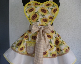 Sexy Sunflower Retro Apron