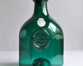 SALE 40% OFF! Rare Blenko Teal Glass Bottle - Greenhow 1770 Williamsburg