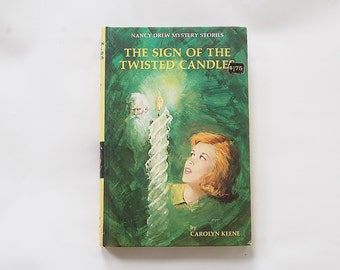Nancy Drew Mystery Book, The Sign Of The Twisted Candle , Nancy Drew Book, Young Adult Book, Teen Mystery