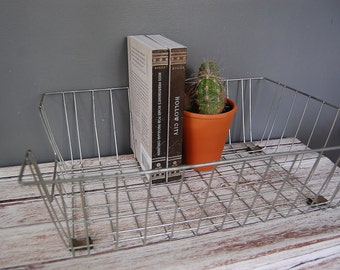 Wire Basket Tray, Metal Storage Tray, Industrial Office Decor, Office and Desk Organization, Office Storage, Wire Basket
