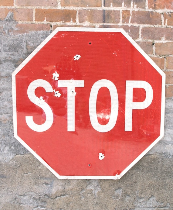 Stop Light For Garage Wall: Traffic Sign Stop Sign Large 30 Octagon By IndustrialHabitat