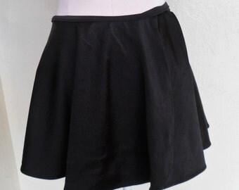 Disco Wrap Mini Skirt Dance Swim Cover Up