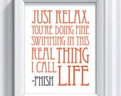 Phish Lyrics - Strange Design - 11x14 - poster print
