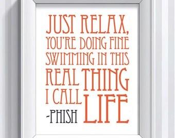 Phish Lyrics - Strange Design - 11x14 - poster print