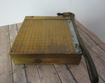 """Vintage Paper Cutter Ingento Cutters Scrapbooking Photo Cutter Industrial Office School Paper Cutter Cheese Board Paper Slice """"SALE"""""""