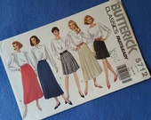 Vintage Uncut Skirt Pattern - Butterick Classics Sewing Pattern 5712 - Misses' size 12 14 16 - Fast & Easy