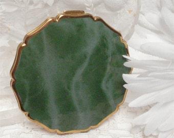 Vintage Jade Enamel Stratton Powder Compact England Excellent