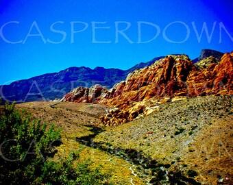 Red Rock Original Photograph Red Rock Canyon Nevada Landscape Art Home Decor Landscape Photograph Wall Art
